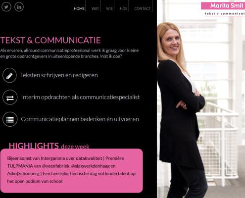 WordPress website met maatwerk ontwerp, template en fotografie