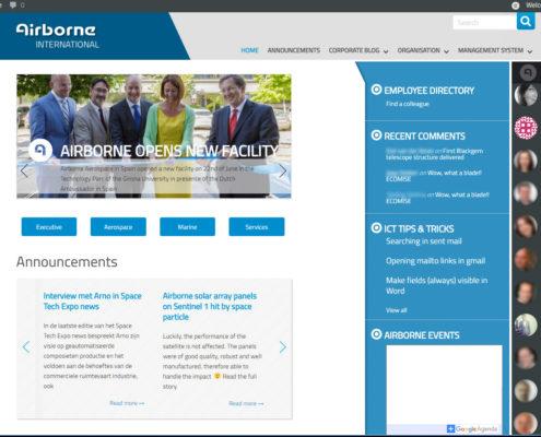 Homepage Intranet
