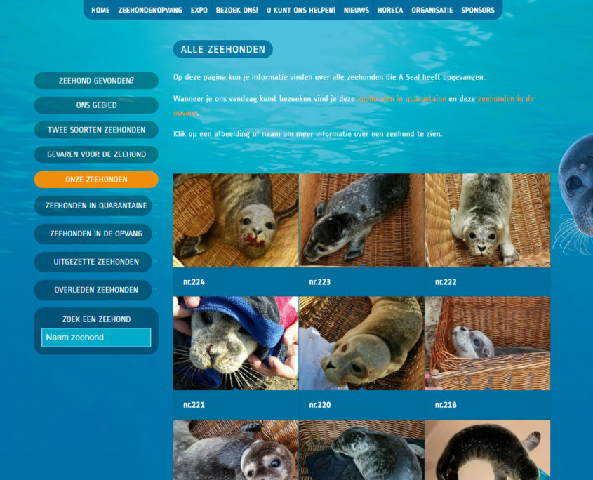 Zeehonden database